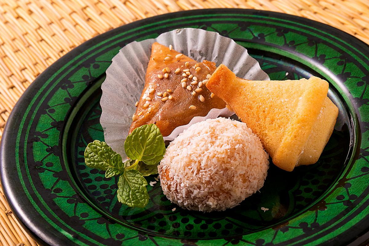 モロッコお菓子3種盛り モロッコ家庭料理専門店 Le Marrakech(ル・マラケシュ)
