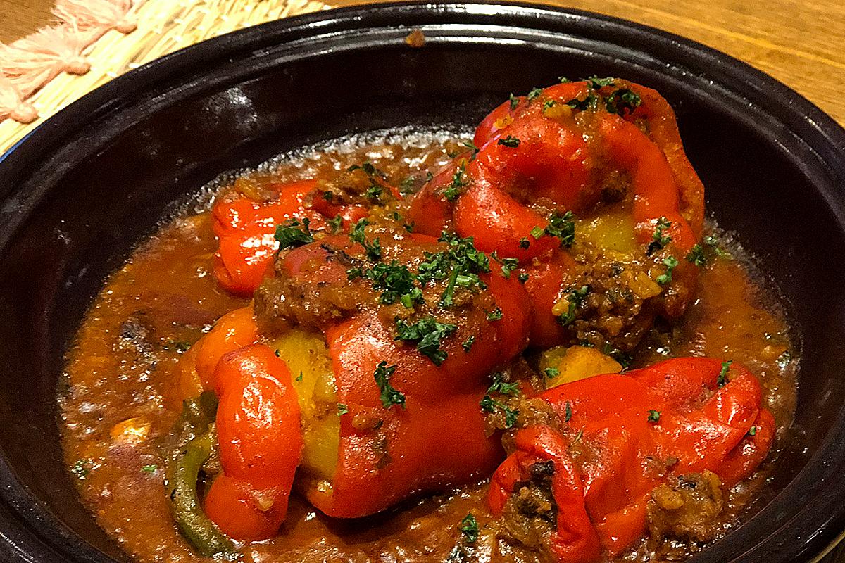 パプリカ肉詰めのタジン モロッコ家庭料理専門店 Le Marrakech(ル・マラケシュ)